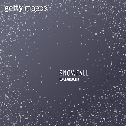 Vector realistic snowflake against a dark background. Transparent elements for Christmas cards
