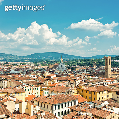 A view on the tile roofs of Florence