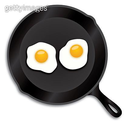 Fried Eggs Iron Skillet