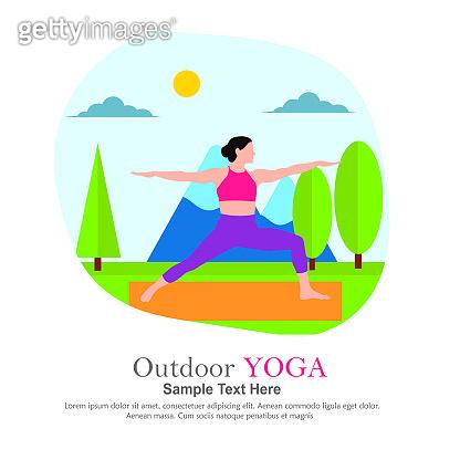 Yoga in outdoor