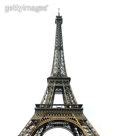 Eiffel Tower with white background