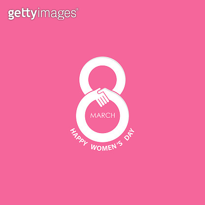 Creative 8 March icon vector design with international women's day icon.Vector illustration