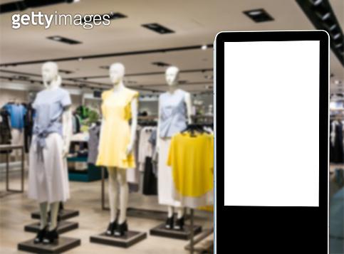 Mannequins at fashion women boutique