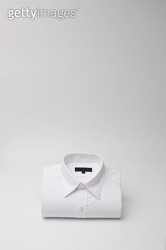 Men's casual shirt folded with copy space