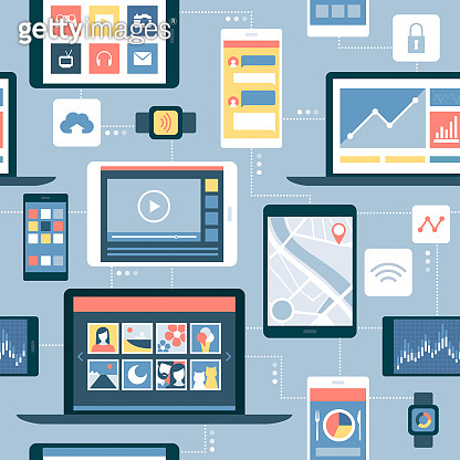 Network of devices and mobile apps