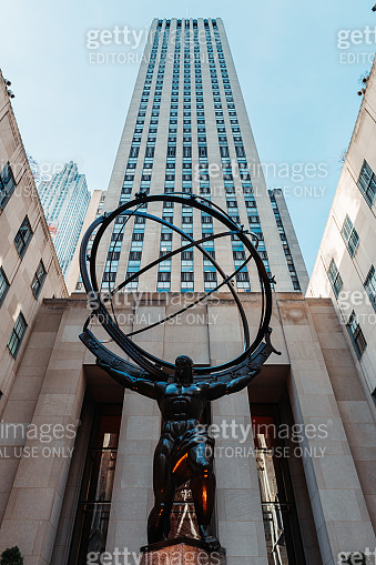 Atlas before Saint Patrick's Cathedral NYC Rockefeller Center