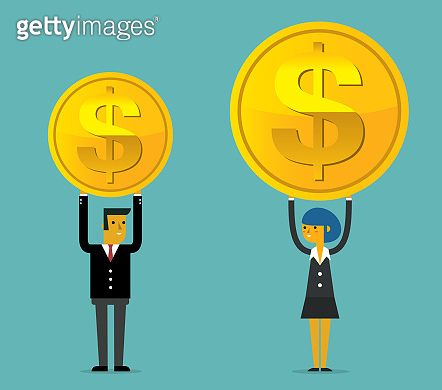 Salary variation - Businessman and Businesswoman