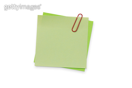 Adhesive Note - Isolated