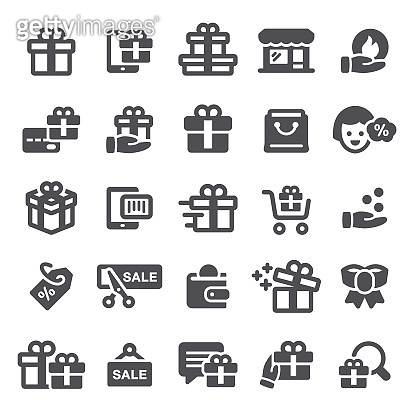 Gifts and Discounts Icons