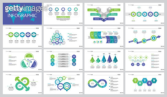 Fifteen Business Slide Templates Set