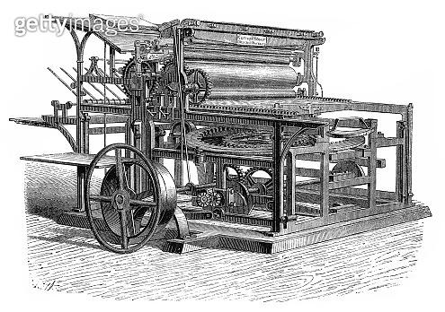 Printing Press (antique engraving)