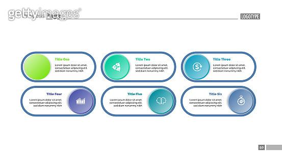 Six Option Chart Slide Template