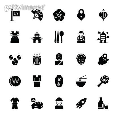 Korea Symbols Icons