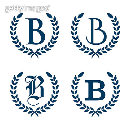 Simple flat graphic letter B for your business symbol
