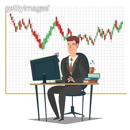 Stock market, investment and trading concept vector illustration