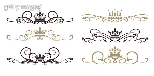 Design elements - vintage style - vector illustration