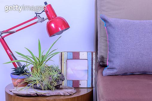 Modern Living room with sofa & decorative ornamental