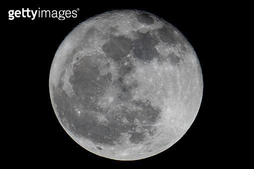 Full moon on dark night