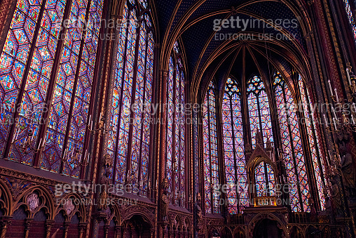 The Sainte-Chapelle is a royal chapel in the Gothic style in Paris.
