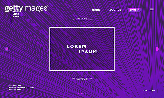 Vector landing page backdrop template