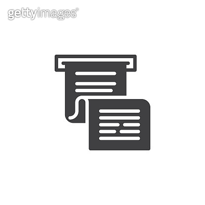 Invoice or paycheck vector icon