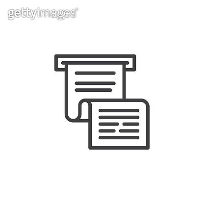 Invoice or paycheck outline icon