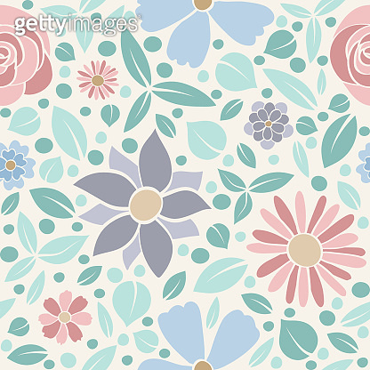 Beautiful pastel coloured background with flowers. Mother's Day, Woman's Day and Valentine's Day. Vector.