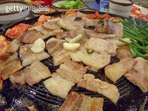 Grilled pork belly korean barbeque