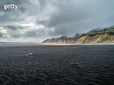 View of Hafursey near Katla volcano in Iceland