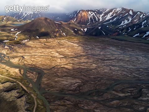 Volcanic landscape at fjallabak nature reserve