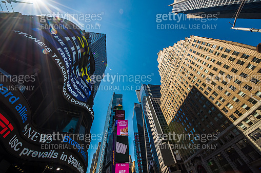 View of Times Square in New York City