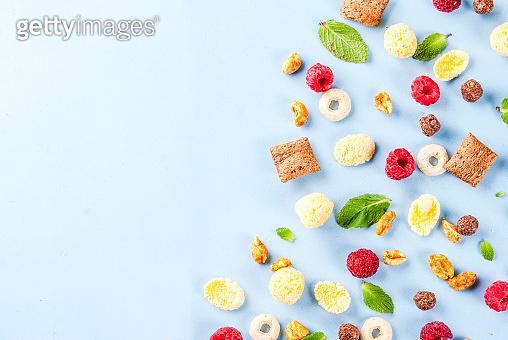 Healthy breakfast ingredients concept