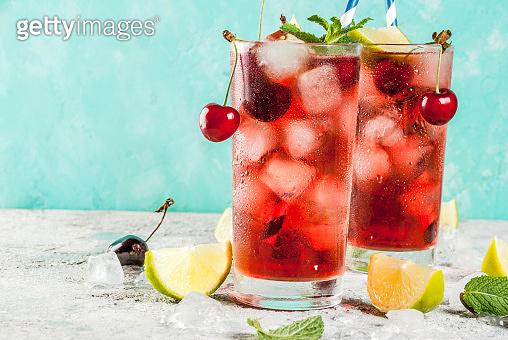 Cherry cola lemonade or mojito