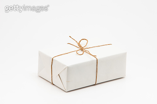 Photo White Gift boxes isolated on white background