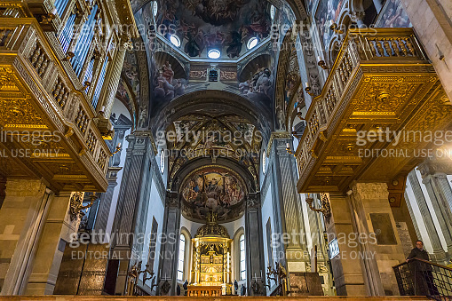 Parma cathedral in Italy