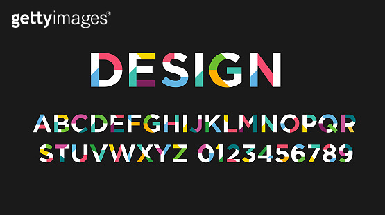 2019 Colofrul Vector of modern abstract font and alphabet