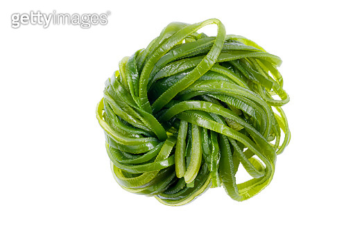 Laminaria japonica(kelp)Isolated on White Background.