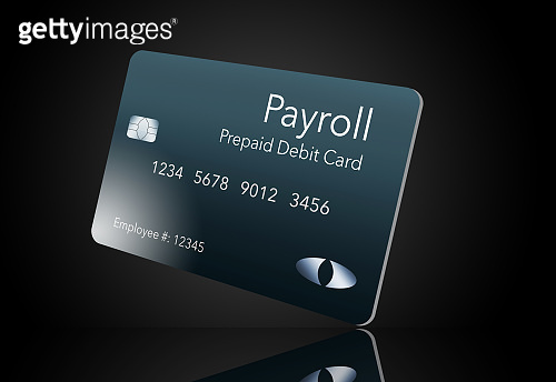 Here is a payroll debit card. It is a pre-paid debit card used to pay employees their payroll wages.