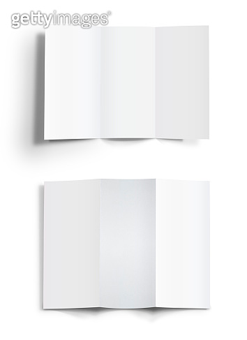 Blank template of folded brochure