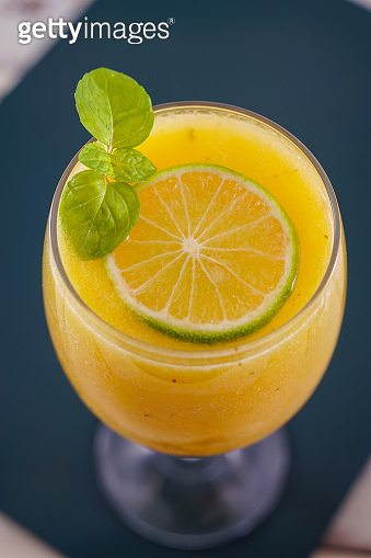 Pineapple with Lime Juice, Summer Drink, Healthy and Detox