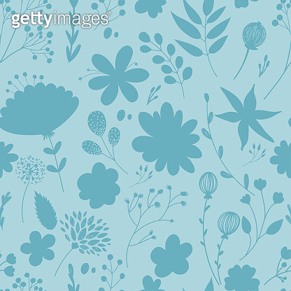 Seamless pattern with pastel flowers.