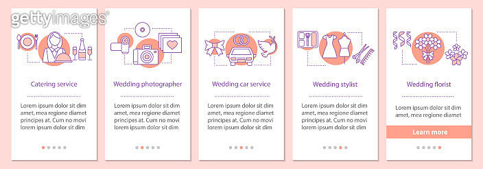 Wedding services icons