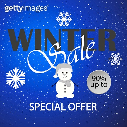 Winter sale. Merry Christmas and Happy New Year. 2019. Vector illustration