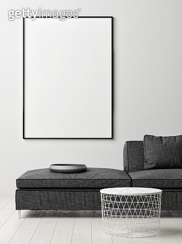 Poster on Wall, Scandinavian color interior design