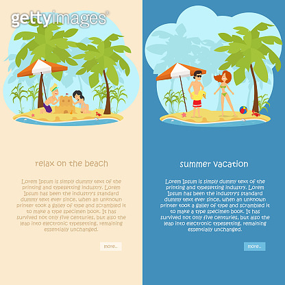 set of vertical banners on the theme of rest
