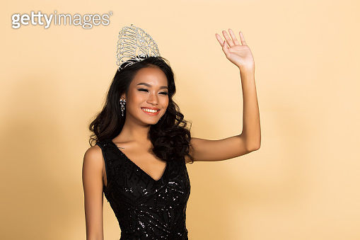 Miss Beauty Pageant Queen Contest in Asian Gown