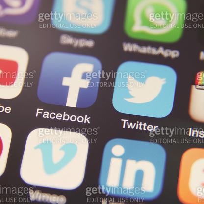 Social media icon mobile phone app application