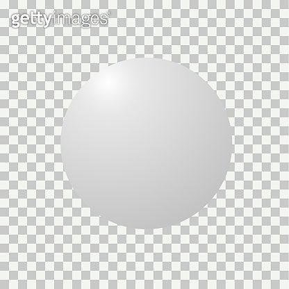 Blank round sphere ball of white. Modern abstract vector sign