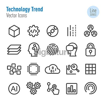 Technology Trend Icons - Vector Line Series