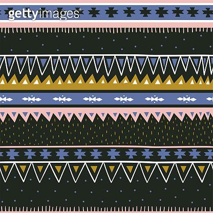Hand drawn  geometric seamless pattern. Modern and stylish scandinavian fabric design.